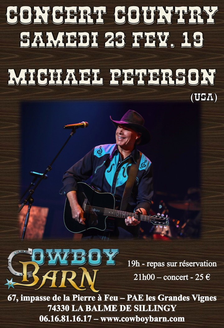 MICHAEL PETERSON @ Cowboy Barn