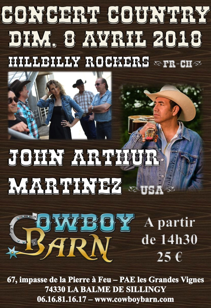 JOHN ARTHUR MARTINEZ @ Cowboy Barn