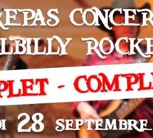 Repas concert avec Hillbilly Rockers